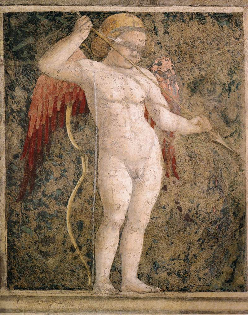 A blindfolded, armed Cupid (1452/66) by Piero della Francesca