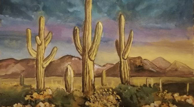 Paintings from the SaguaroLove Series