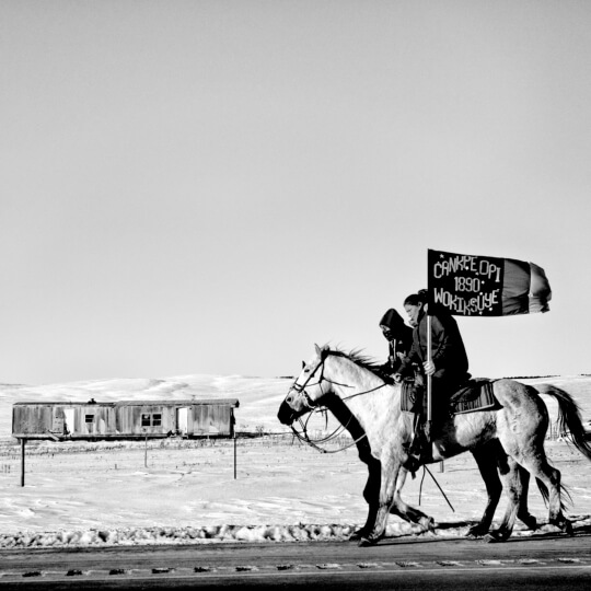 Matt Black: Commemoration of the Wounded Knee Massacre, Pine Ridge, South Dakota, USA, 2016